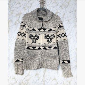 TNA Sea to sky sweater 100% Lambswool medium grey